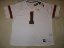 Miami Hurricanes Football Jersey New W/Tags Women's 2XL Ladies Adidas The U MIA