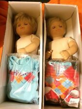 Blonde Bitty Twins Boy/Girl With Argyle Outfits And Box American Girl Box 27