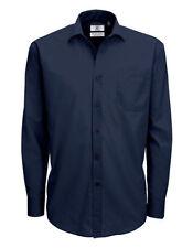 Camicie classiche da uomo blu 41-42