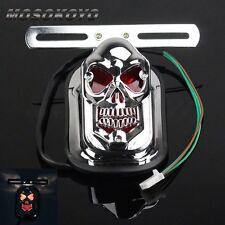 Skull Integrated Brake Taillight License Plate Light For Honda Kawasaki BMW KTM