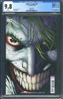 Justice League 8 (DC) CGC 9.8 White Pages Joker Variant Cover by Jim Lee