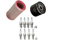 Service Kit Fits Alfa Romeo 156 166 GTV Spider Air / Oil Filter 8 x Spark Plugs