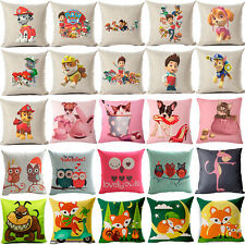 "18""Cartoon Dog Cotton Linen Pillow Case Sofa Cushion Cover Fashion Home Decor"