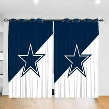 Dallas Cowboys Blackout Curtain Panels Bedroom Living Room 2 Panel Window Drapes