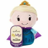 NEW Hallmark Itty Bitty Coronation Elsa Plush Frozen Disney Purple Cape
