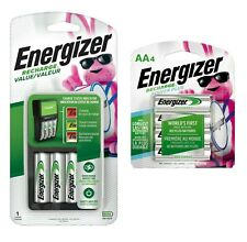 Energizer Recharge Value Charger with 4 AA and 4 Extra AA Rechargeable Batteries