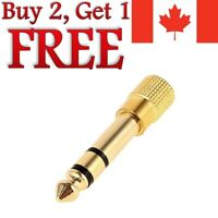 """6.5mm 1/4"""" Male to 1/8"""" 3.5mm Audio Jack Stereo Headphone Adapter 6.5mm to 3.5mm"""
