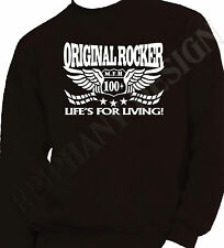 Rocker Sweatshirt 100mph Motorcycle Rock Racing OneOnly Black SPECIAL OFFER