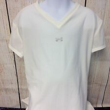 Under Armour Athletic Shirt Juniors Large White Ships Free