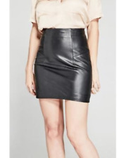 NWT GUESS By Marciano Linnet Leather Mini Skirt Size 6 S
