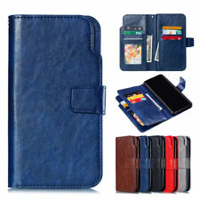 For Samsung Galaxy J8 A6 A8 2018 Magnetic Flip Case Leather Wallet Stand Cover