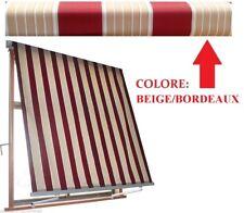 TENDA TENDE DA SOLE A CADUTA Beige Bordeaux rullo cm 300 X 245 h balcone MILOS