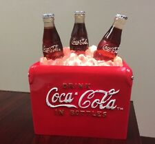 Coca Cola 3 Bottle Ice Cooler Table Water Fountain Lights Up Tested