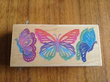 """ALL NIGHT MEDIA I""""RETIRED"""" RUBBER STAMP """"BUTTERFLY * 4 1/2 x 2* POSH IMPRESSIONS"""