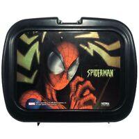 Thermos SpiderMan Plastic Lunchbox 2004 Marvel Black Lightning Bolts Spiderman