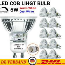 10x GU10 LED 5W Strahler Birne Licht Leuchte Lampe Leuchtmittel Dimmbar Warmweiß