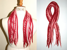 Cherry Red and Pink Dreadlocks - 16 Handmade felted wool dreads / candycanes