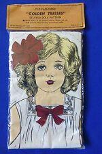 Vintage Shackman Golden Tresses Antique Replica Stuffed Doll Cut & Sew Pattern
