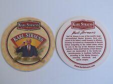 Beer Pub Coaster ~ Karl M. STRAUSS ~ Master Brewer from Bavaria ~ San Diego, CA