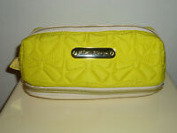 NWOT! Must See Beautiful Betsy Johnson Yellow Quilted Cosmetic Case