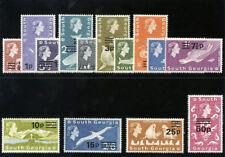 Malvinas es dependencias 1971 QEII Decimal Juego Completo MLH. SG 18-31a. SC 17-30