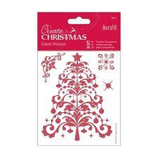 ALBERO di Natale Timbro Clear Set-Crea raccolta di Natale da Docrafts