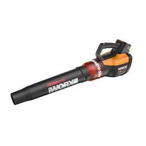 Worx  WG591 Cordless Leaf Blower w/ Battery, Handheld 56V 465CFM 2-Speed Turbine