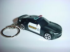 NEW 3D CHEVROLET CAMARO SS POLICE CUSTOM KEYCHAIN keyring key 911 cops LAW bling