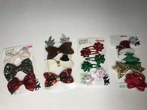 claire's hair christmas bows set of 4 sets