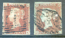 Great Britain 1841 1d Red imperf 2 clear 4 margin copies used (2020/07/07#06)