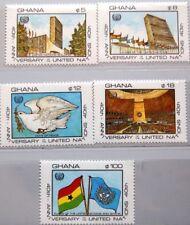 Ghana 1985 1112-16 985-89 40th Ann onu onu HQ New York Building edificio mnh