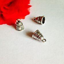 8 dé à coudre charms 3D avec coeur ton argent couture craft pendentifs uk