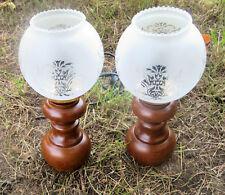 2x lampes de table lampe table de bureau antikstill écran de verre lampe de nuit