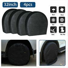 """4X Waterproof Wheel Tyre Covers RV Trailer Camper Sun Protector 29""""-32"""" Diameter"""