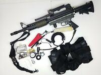 Ariakon Sim-4 Elite Ris Paintball Marker Gun Bundle + Extras Laser Tether