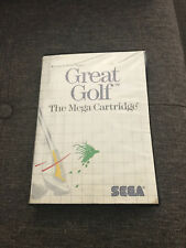SEGA MASTER SYSTEM GAME - GREAT GOLF with CASE