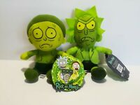 New Rick and Morty Toxic Version (Set of 2) 2020 Licensed Plush Stuffed Toys