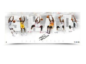 """Shaquille O'Neal Signed Autographed 36X15 Photo """"Shaq Attack"""" Lakers #/50 UDA"""