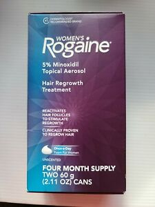 💥👉ROGAINE Women`s 5 % Minoxidil Topical Aerosol. 4 month supply exp 2022-08+