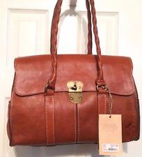 Patricia Nash Vienna Satchel NWT Brown Beautiful Italian Leather