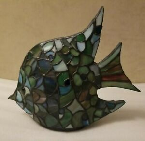 Tiffany Style Stained Glass Table Lamp&Night Light Tropical Fish(not power cord)