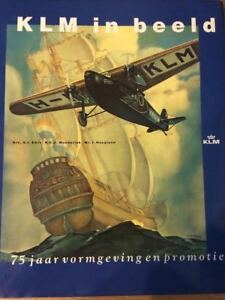KLM DUTCH AIRLINES 75 YEARS HISTORY IN PICTURES BOOK B 747 DC 8 ROUTE MAP