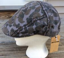 True Religion Lined Camouflage Cabbie/Newsboy Cap Charcoal TR1799 OS 100% cotton