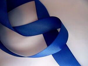 Navy Blue Grosgrain Ribbon. 25m length for Full Reel. Choose 10mm or 25mm width