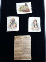 Antique/VTG Promotional Silk Nebo Cigarette Ads w/ History Early 1900's.Lot of 4