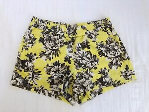 "J Crew Factory Yellow Floral Print BoardWalk 3"" Shorts Size 4"
