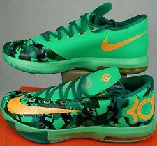 New Mens 12 NIKE KD VI Lucid Easter Green Orange Shoes $130 599424-303
