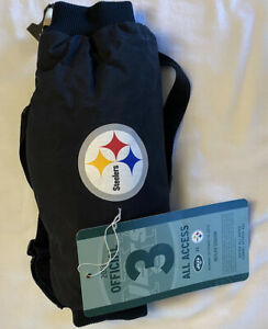 Nfl Offical Pittsburgh Steelers Game Used Hand Warmer @ NYJ  Game Ticket Rare