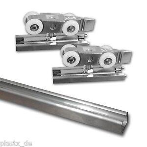 3 m Alu-Laufschiene + Schiebetürbeschlag Raumtrenner