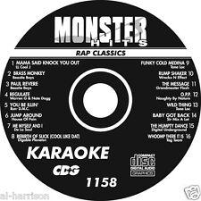 KARAOKE MONSTER HITS CD+G RAP CLASSICS  #1158